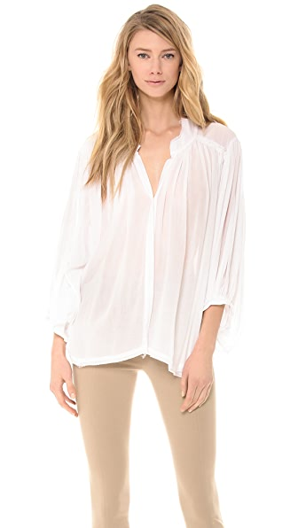 Donna Karan New York Button Front Flared Top
