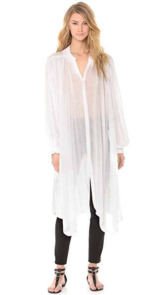 Donna Karan New York Long Sleeve Button Front Tunic