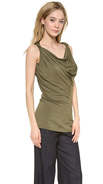 Donna Karan New York Twisted Draped Tank Tunic