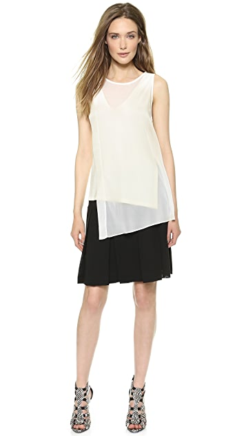 Donna Karan New York Above the Knee Pleated Skirt