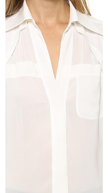 Donna Karan New York Long Sleeve Blouse