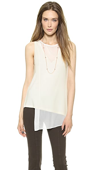 Donna Karan New York Sleeveless V Neck Top