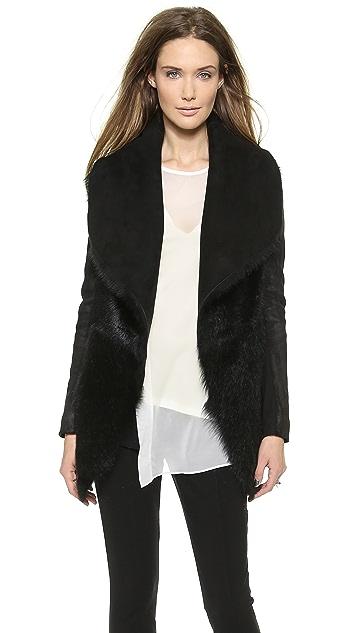 Donna Karan New York Slim Jacket with Suede Inserts