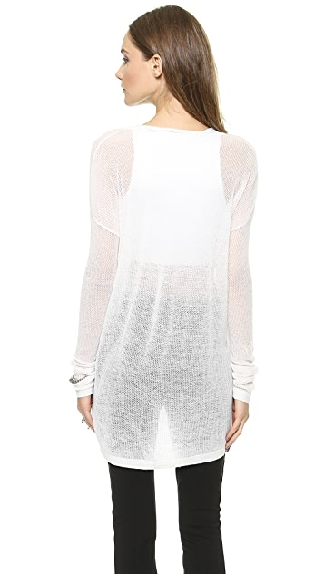 Donna Karan New York Easy Open Knit Pullover