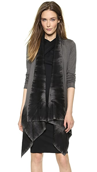 Donna Karan New York Long Sleeve Drape Front Sweater