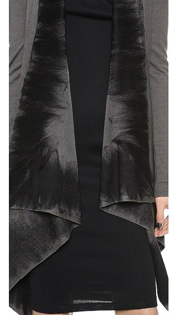 Donna Karan New York Long Sleeve Drape Front Sweater