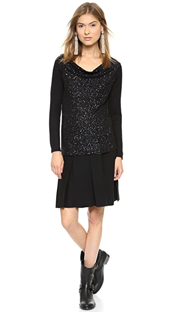 Donna Karan New York Off the Shoulder Cashmere Sweater