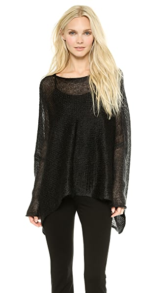 Donna Karan New York Long Sleeve Poncho Top