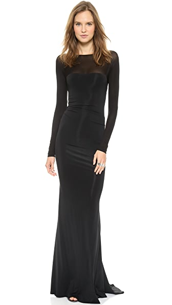 Donna Karan New York Long Sleeve Evening Dress