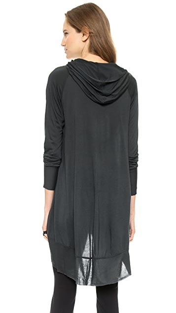 Donna Karan New York Hooded Tunic with Curved Body Seams