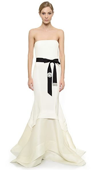 Donna Karan New York Embellished Strapless Gown