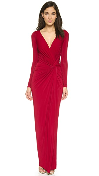 Donna Karan New York Plunge V Knot Dress