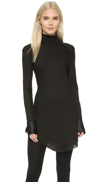 Donna Karan New York Long Sleeve Turtleneck Tunic