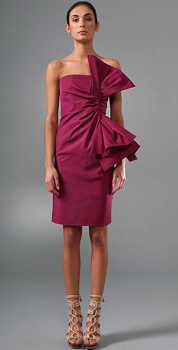 Derek Lam Bow Knot Bustier Dress