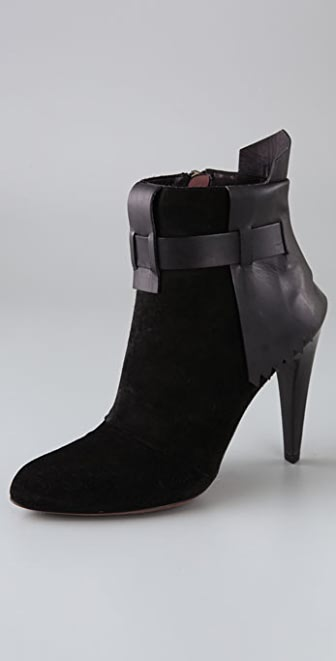 Derek Lam Elodie Skirted Suede Booties