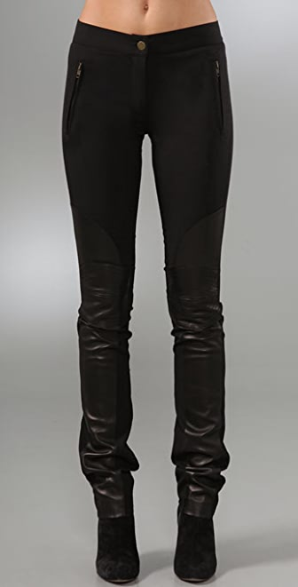 Derek Lam Riding Pants with Leather Trim