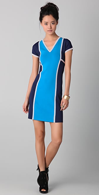 Derek Lam V Neck Scuba Dress