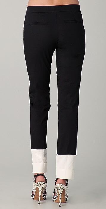 Derek Lam Trousers with White Faille Cuffs