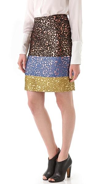 Derek Lam Printed Skirt