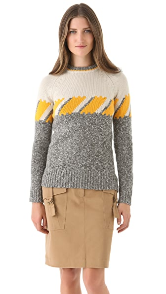 Derek Lam Long Sleeve Ski Sweater