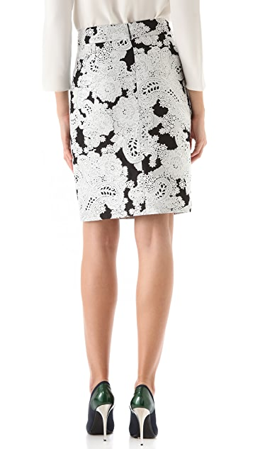 Derek Lam Paisley Jacquard Pencil Skirt