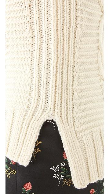 Derek Lam Sleeveless Cable Sweater