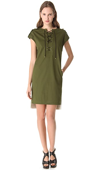 Derek Lam Lace Up Tunic Dress