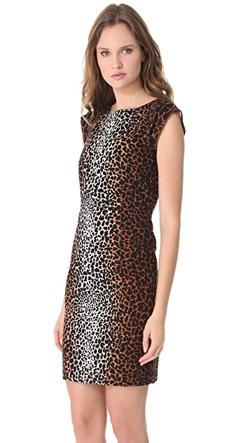 Derek Lam Giraffe Cap Sleeve Dress