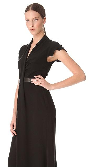Derek Lam Leather Band Silk Gown