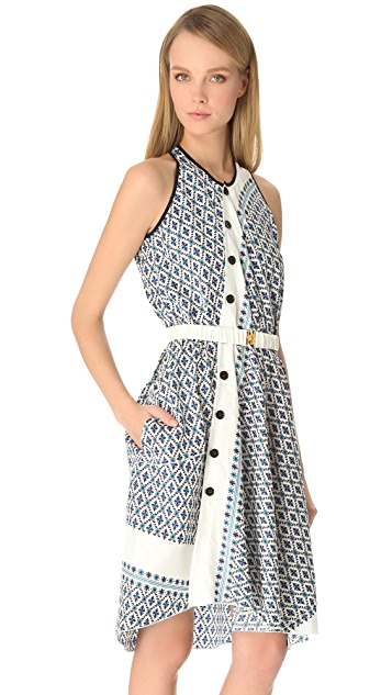 Derek Lam Floral Asymmetrical Dress