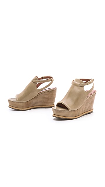 Derek Lam Malta Wood Wedge Sandals