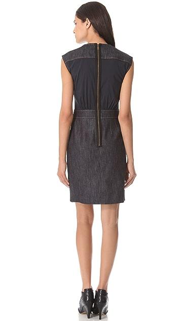 Derek Lam Cap Sleeve Denim Dress