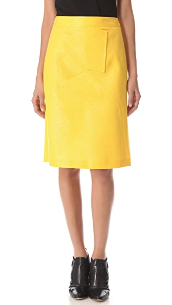 Derek Lam Graphic Seam Skirt
