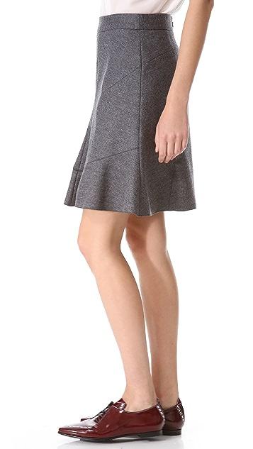 Derek Lam Felt Peplum Skirt