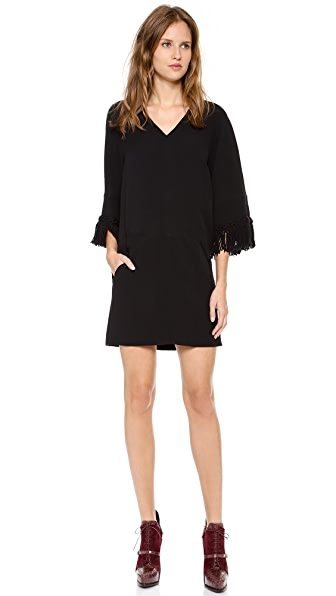 Derek Lam Crepe V Neck Dress
