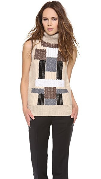 Derek Lam Sleeveless Mock Neck Sweater