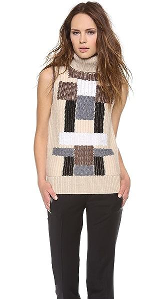 Derek Lam Sleeveless Mock Neck Sweater