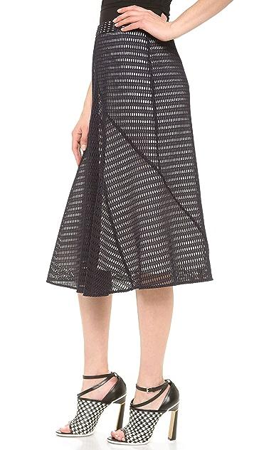 Derek Lam Honeycomb Weave Skirt