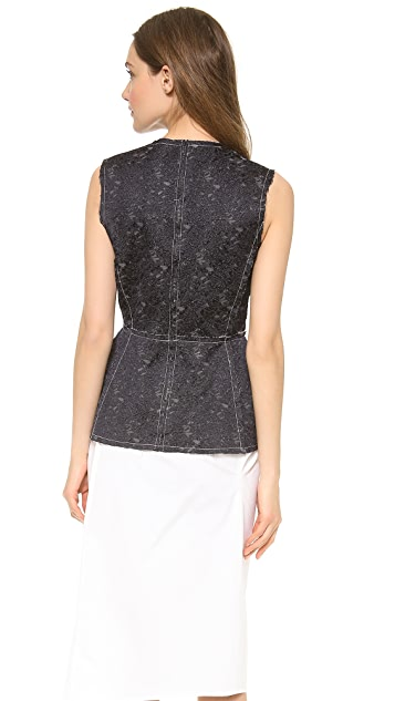 Derek Lam Sleeveless Seamed Top
