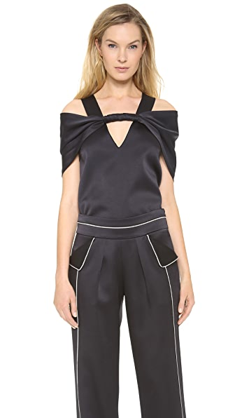 Derek Lam Satin Twist Front Top