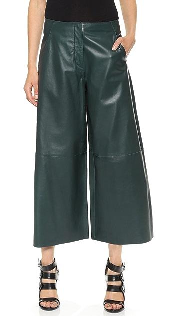 Derek Lam Cropped Leather Pants