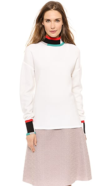 Derek Lam Colorblock Turtleneck Sweater