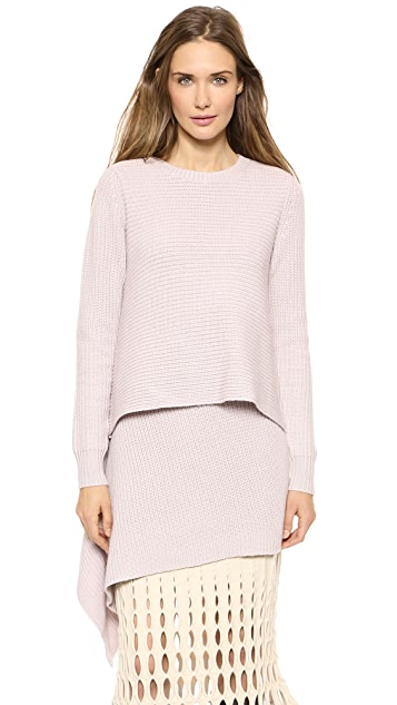 Derek Lam Cashmere Asymmetrical Tunic Sweater