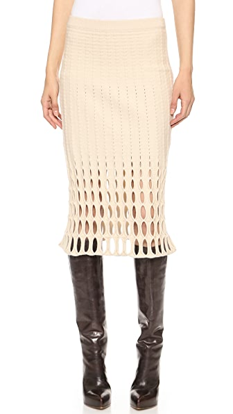 Derek Lam Felted Mesh Pencil Skirt