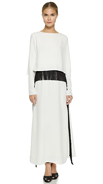 Derek Lam Fringe Layer Gown