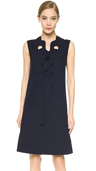 Derek Lam Lace Up Dress