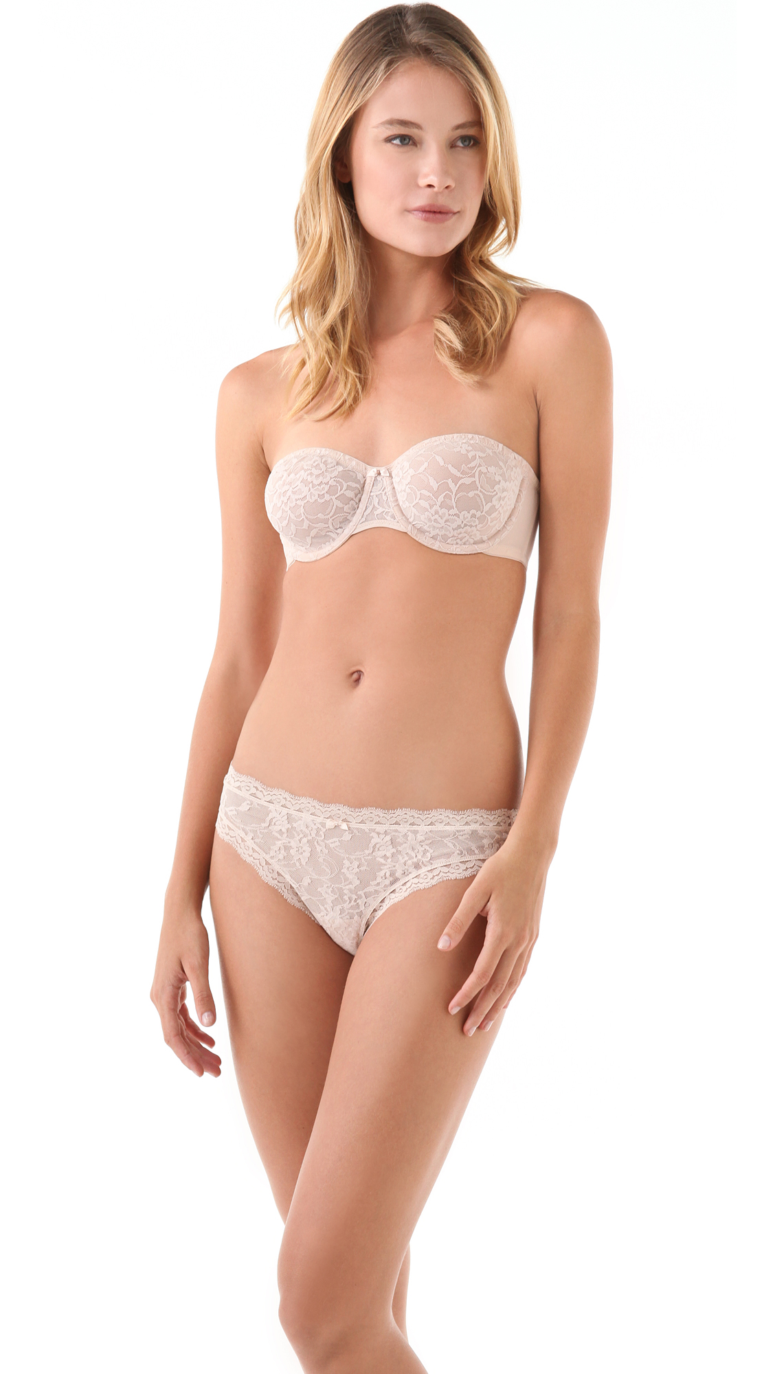 3a88f70af971e DKNY Intimates Signature Lace Unlined Strapless Bra