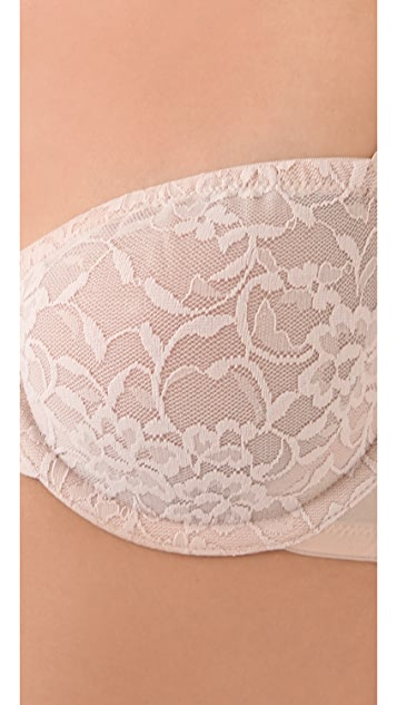 DKNY Intimates Signature Lace Unlined Strapless Bra