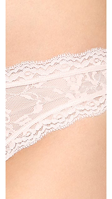 DKNY Intimates Signature Lace Table Thong