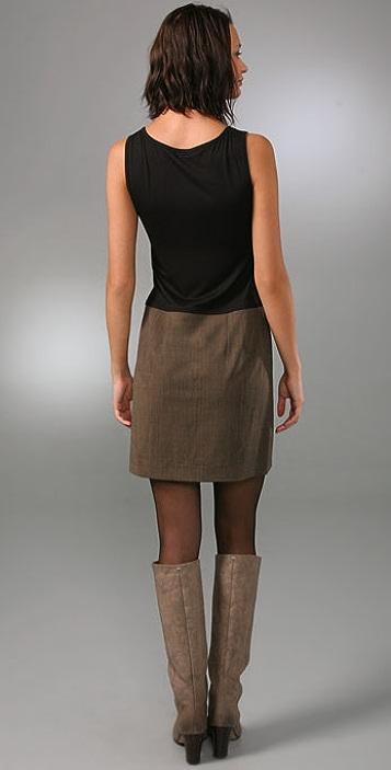 DKNY Tank Dress with Wrap Skirt Detail